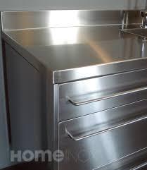 cuisine inox sur mesure meuble de cuisine ikéa plan de travail inox sur mesure