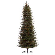 75 Slim Flocked Christmas Tree by Led Fuses Included Pre Lit Christmas Trees Artificial