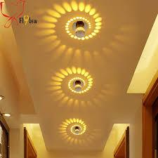 modern creative led ciling l 3w 7 colors ceiling light lighting