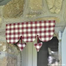 cantonniere pour cuisine cantonniere vichy coeurs decoration cuisine