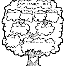 Family Tree Black And White Clipart Kid