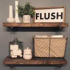 Rustic Bathroom Wall Decor Best 25 Shelf Ideas On