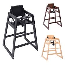 3 Colors Baby High Chair Wooden Stool Infant