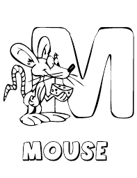 Animal Mouse Free Alphabet Coloring Pages