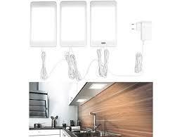luminea unterbauleuchte küche 3er set led unterbaupanels