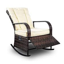 Amazon.com : Mupater Patio PE Rattan Wicker Rocking Chair Auto ... Vintage White Wicker Rocking Chair Renewworks Home Decor Wisdom And Koenig Interior Iron Rocking Chair Designer Outdoor Villa Back Yard Rattan Alinum Chairs Lounge Rocker Agha Interiors Blue Heron Pines Homeowners Association Cape Cod Kampmann With Cushions Reviews Joss Coral Coast Mocha Resin Beige Cushion Terrace Leisure Fniture With High And Alinium Tortuga Portside Classic Wickercom Aliexpresscom Buy Giantex Patio