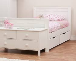 Stompa Classic Single Bed with Drawers Rainbow Wood