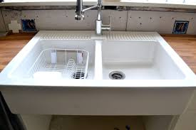 Double Kitchen Sinks With Drainboards by Sinks Stunning Lowes Farm Sink Farm Sink Home Depot Farmhouse