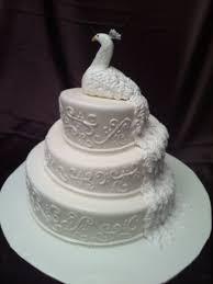 White Peacock Wedding Cake CakeCentral