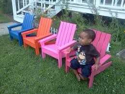 4 Bright Little Adirondack Chairs