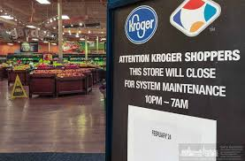 Kroger Christmas Tree Lights by Kroger On Schrock Closing For 8 Hours Westervilleoh Io