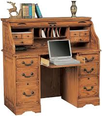 Ethan Allen Dark Pine Roll Top Desk by Roll Top Desk Home Office Furniture Page 1