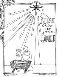 Download Coloring Pages Christmas Nativity Printable To