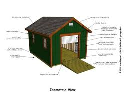 12x16 gable shed plans isometric view sheds cabins tiny