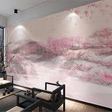 nach wandbild tapete 3d romantische rosa pfirsich blossom landschaft wand malerei wohnzimmer schlafzimmer hotel hintergrund wand decor 3d