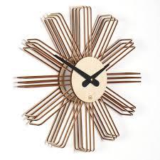 design wanduhr estrella aus holz
