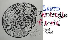 How To Draw Easy Zentangle Art Design For Beginners Tutorial Doodle Drawing Step By