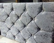 Gray Velvet King Headboard by 6ft Super King Size Headboards And Footboards Ebay
