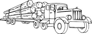 Logging Semi Truck Coloring Page