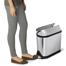 Simplehuman 10 Liter In Cabinet Trash Can by Amazon Com Simplehuman Butterfly Step Trash Can Stainless Steel