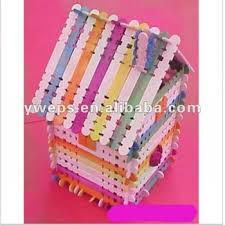 Colored Handicraft Wooden Icecream Stick