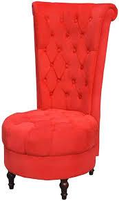 festnight sessel mit hoher rückenlehne polstersessel relaxsessel schlafzimmer sessel wohnzimmersessel holzrahmen sitzkomfort rot