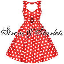 hell bunny sweetheart vtg 50s red polka dot dress