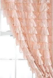 Peach Pink Curtains Love The Pale Pink Ruffled Curtain Curtain