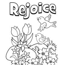 Rejoice Coloring Page Printed For The Preschool Sunday School Class