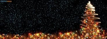 Christmas Tree Lights Facebook Cover Preview