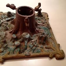 Antique German Christmas Tree Stand Cast Iron With