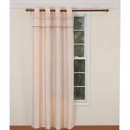 Belle Maison Fiesta Lurex Striped Curtain Panel