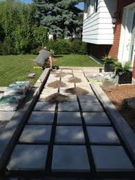 Paver Patio Ideas On A Budget by Our Diy Front Path Makeover On A Budget Zenshmen Project Curb