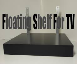 Holmo Floor Lamp Hack by Floating Shelf For Tv 4 Steps With Pictures