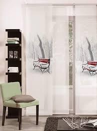 möbel wohnen schiebevorhang motiv wintersonne 60x245cm