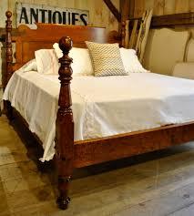 Raymour And Flanigan Bed Headboards by P U003eoutstanding Birds Eye Maple Bed W Ram U0027s Ear Roll Back Paneled