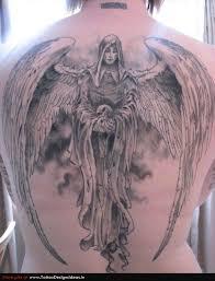 3d Fallen Angel Back Gallery Tattoo For Men
