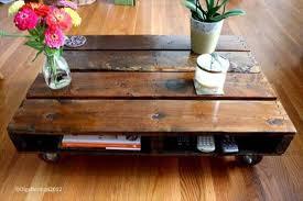 DIY Pallet Coffee Table With Wheels Tutorial