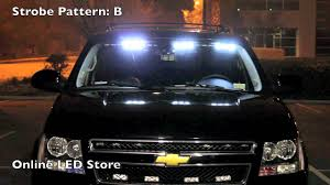 100 Strobe Light For Trucks 54 LED Front Headliner Emergency POV S Amber White