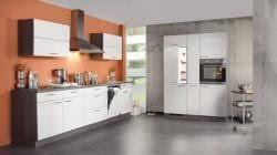 weiße matte eiche grau l küche