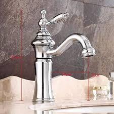vintage waschtischarmatur bad wasserhahn 360 drehbar einhebelmischer waschbecken armatur badarmatur mischbatterie waschtischbatterie messing chrom