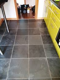 slate tile cleaning and grout recolouring in a linwood kitchen