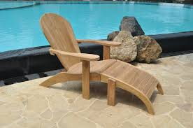 adirondack teak chair with footstool
