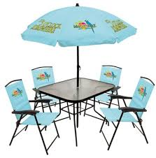 Folding Patio Chairs Amazon by Margaritaville Patio Set Blue Folding Sling Chairs 5 Pc Http
