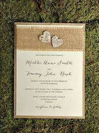 Diy Wedding Invitations With Burlap And Rsvp Cards Simple Vintage