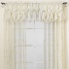 Bed Bath Beyond Valances by Croscill Cavalier Sheer Window Curtain Panel Bed Bath U0026 Beyond