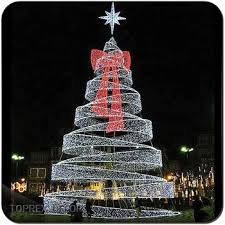 H20ft Holiday Decoration Metal Frame Led Ribbon Wire Outdoor Christmas Trees