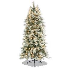 Slimline Christmas Tree by 6ft Slim Flocked Spruce Christmas Tree Amazon Co Uk Kitchen U0026 Home