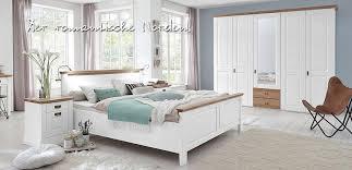 schlafzimmer 4teilig kiefer weiß lackiert eiche geölt bett 160x200 42 cm hoch kleiderschrank 5trg 275 x 228 x 63cm 2 nachtkonsolen casade mobila