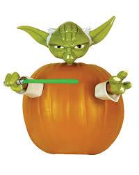 Star Wars Pumpkin Carving Templates Easy by Amazon Com Star Wars Yoda Pumpkin Push In Halloween Decorating